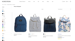 Ecommerce website designs: Nordstrom