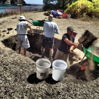 The dig was a joint project between archaeologists from New Zealand government agencies and Otago University, and local Maori groups.