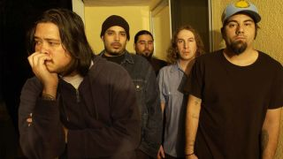 Chi Cheng, left, with Deftones
