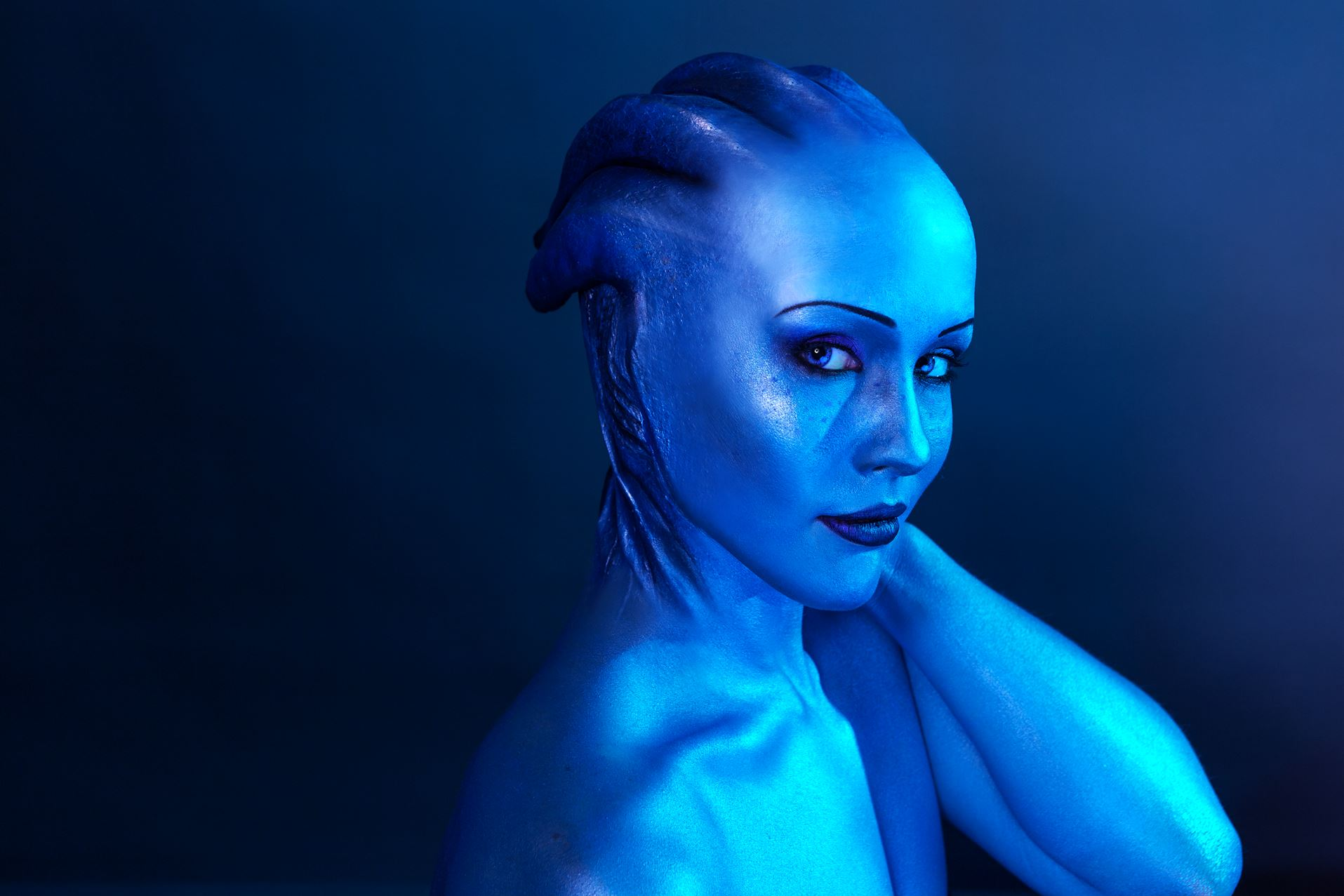Check Out This Great Liara Mass Effect Cosplay Pc Gamer