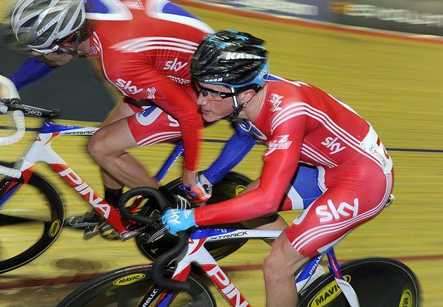 Peter Kennaugh and Luke Rowe, British Madison National Championships 2011