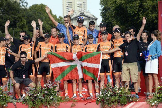 Euskaltel-Euskadi say farewell, Vuelta a Espana 2013, stage 21
