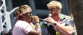 KSI and Logan Paul sparring verbally before they throw down physically