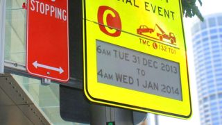 e-ink traffic signs in Sydney