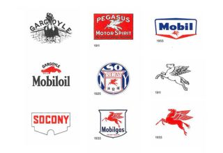 making of a modern classic the mobil logo creative bloq