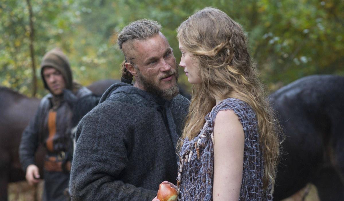 Vikings Travis Fimmel Ragnar Lothbrok Alyssa Sutherland Aslaug History