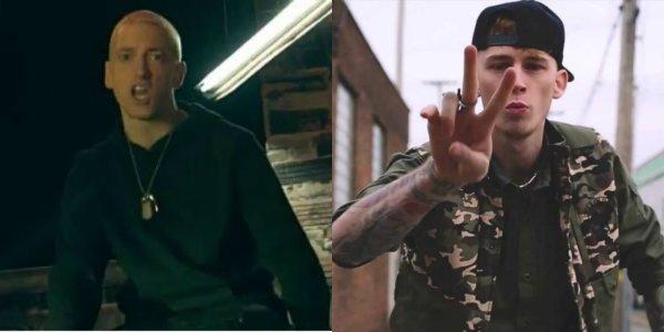 "Eminem ""Untouchable"" Music Video /Machine Gun Kelly ""Breaking News"" Music Video"
