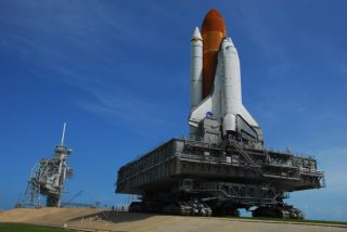 Space Shuttle Discovery Reaches Launch Pad