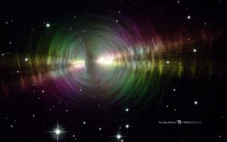 Rainbow Image of Egg Nebula space wallpaper