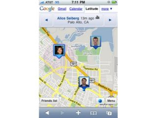 Google Latitude on the iPhone web browser