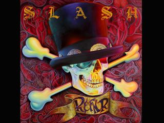 The cover art for the debut Slash solo LP