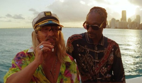 The Beach Bum Matthew McConaughey and Snoop Dogg chill on a boat out at sea