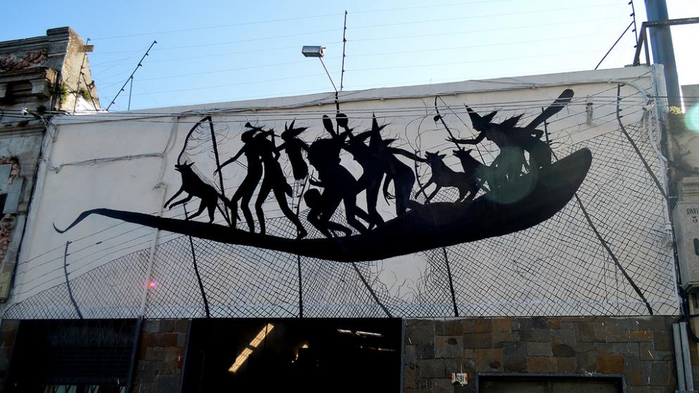 Street art: David de la Mano