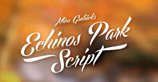 Tattoo fonts: Echinos Park Script