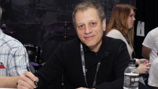 Dave Weckl, so committed to the cause he even drinks Yamaha water