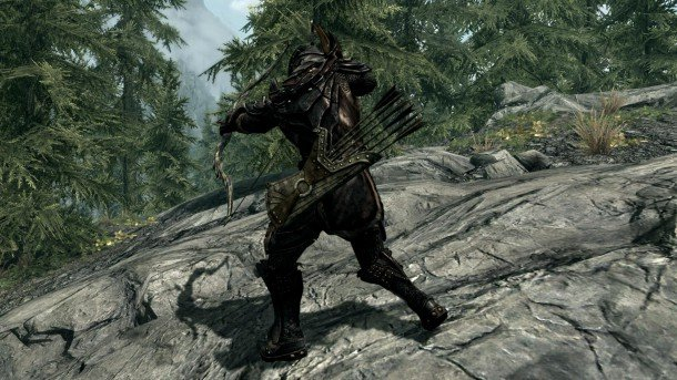the best skyrim mods: belt fastened quivers