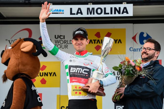 Tejay van Garderen in the Catalunya leader's jersey after stage 3