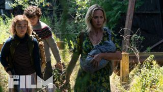 Emily Blunt, Millicent Simmonds and Noah Jupe in A Quiet Place Part II