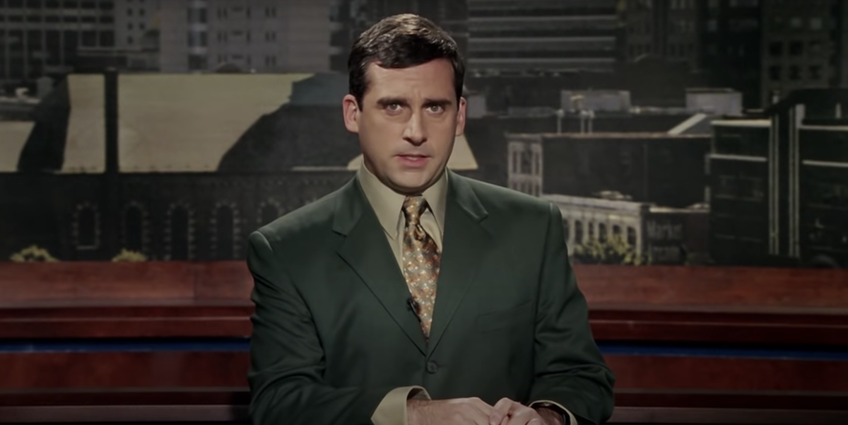 Evan Baxter during his infamous newscast in 'Bruce Almighty'