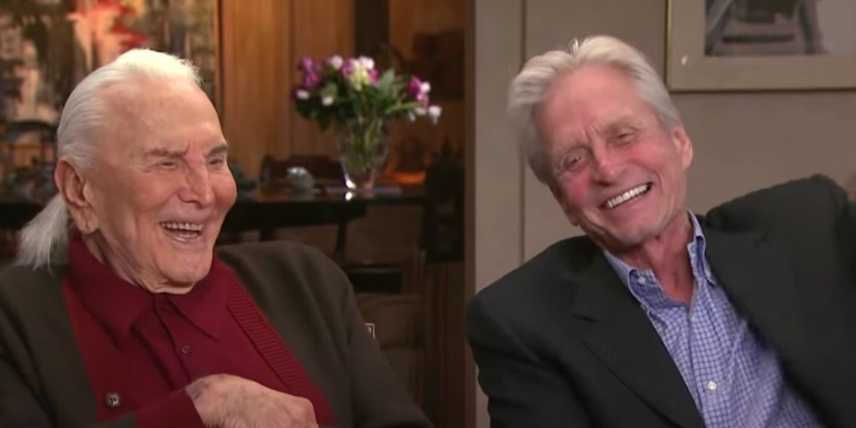 Kirk Douglas and Michael Douglas in interview (2014)