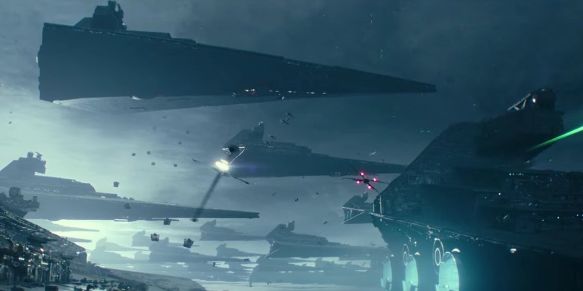 The fleet of Destroyers in The Rise of Skywalker