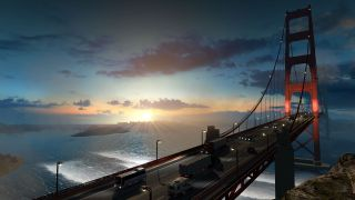 American Truck Simulator golden gate bridge