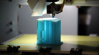 UP mini 3D printer in action close-up