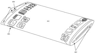 flexible curved virtual button iphone patent