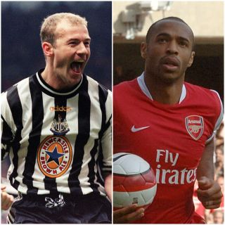 Alan Shearer and Thierry Henry