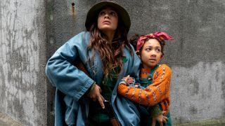 "Dania Ramirez as Aimee and Naledi Murray as Wendy in ""Sweet Tooth"" on Netflix."
