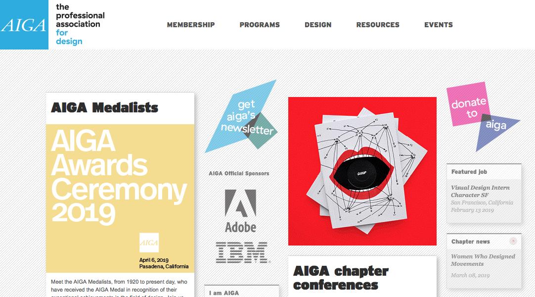 AIGA homepage