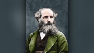 A portrait of the scientist James Clerk Maxwell made around 1875.