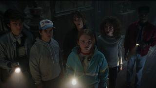 The cast of Stranger Things in Season 4 screenshot