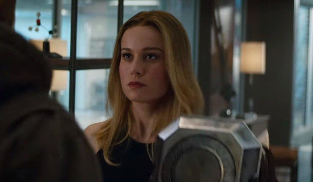 Brie Larson as Captain Marvel with Thor in Avengers: Endgame