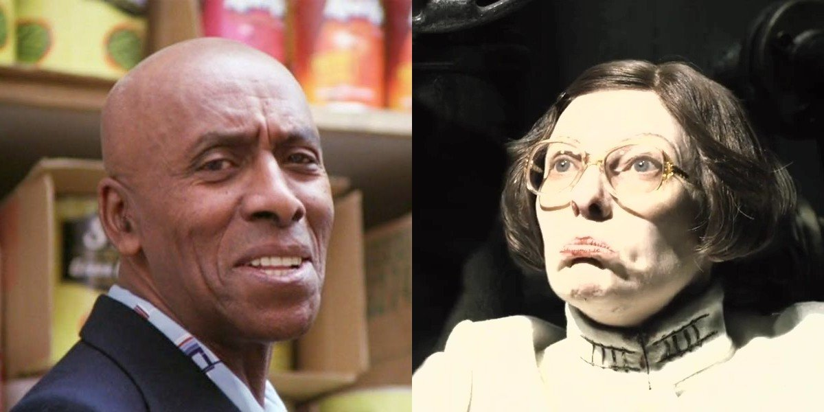 Scatman Crothers on the left, Tilda Swinton on the right