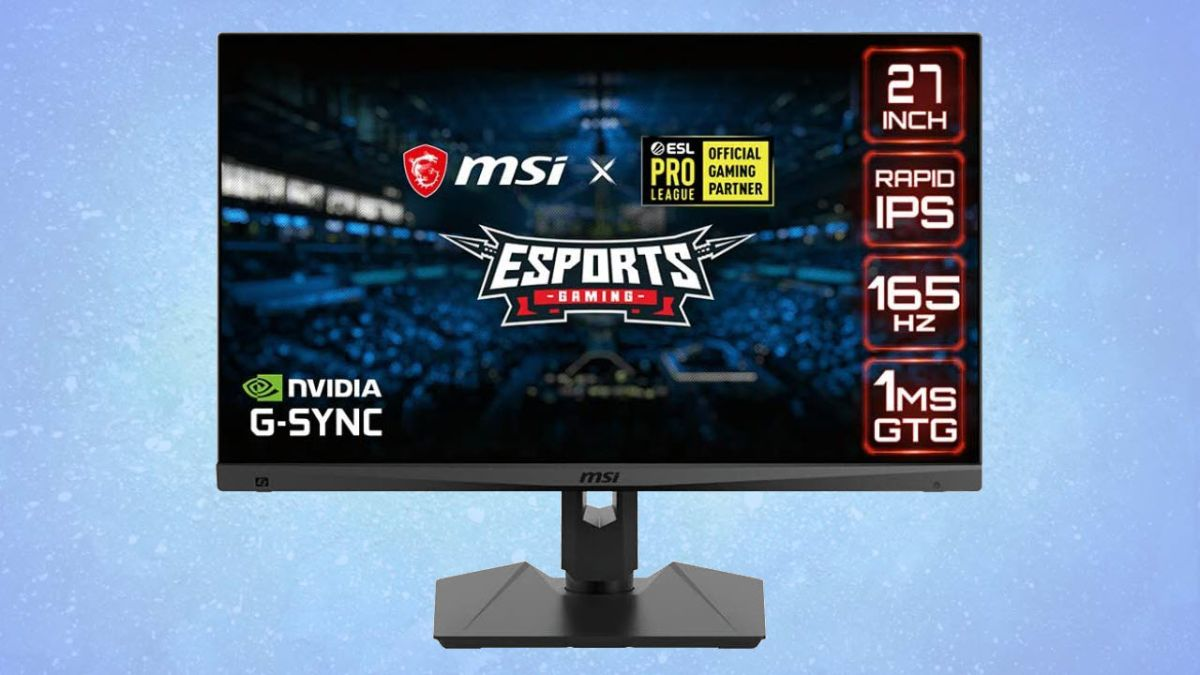 Get  off This MSI QHD 165Hz Gaming Monitor With HDR