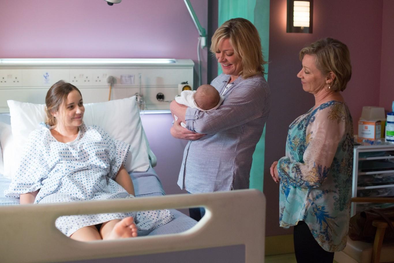 EastEnders' Jane Beale holds baby Louie