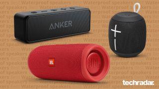 three of the best waterproof speaker models