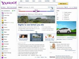 Set your new Yahoo homepage to 'fun' or 'serious' depending on how you feel that day!