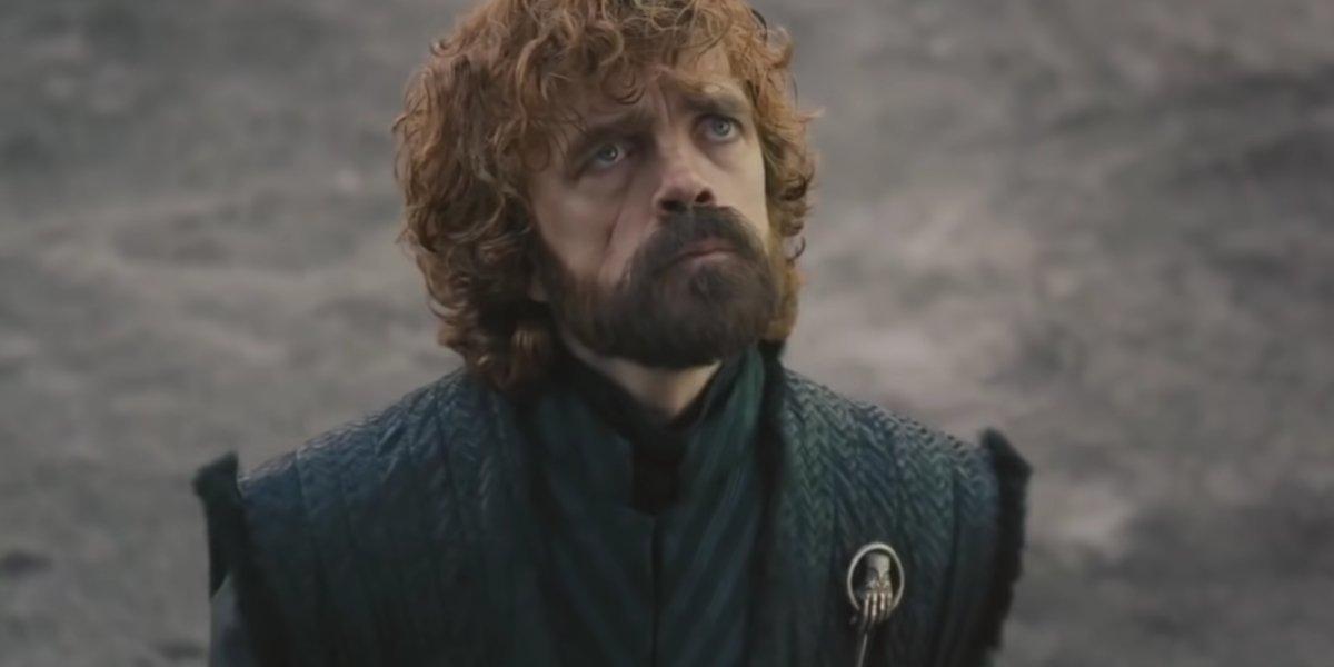 Tyrion Lannister looking the skies in Season 8 of Game Of Thrones