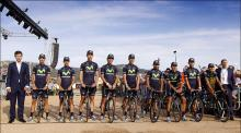 The Movistar team presented in Corsica