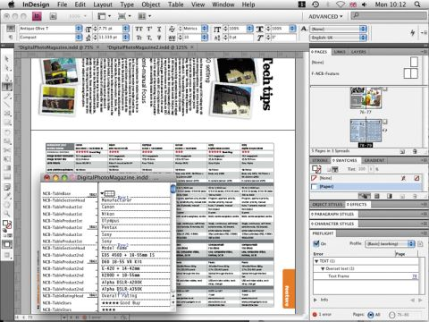 New InDesign CS4 Software