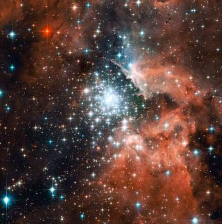 Baby Steps of Stars Revealed by Hubble Telescope
