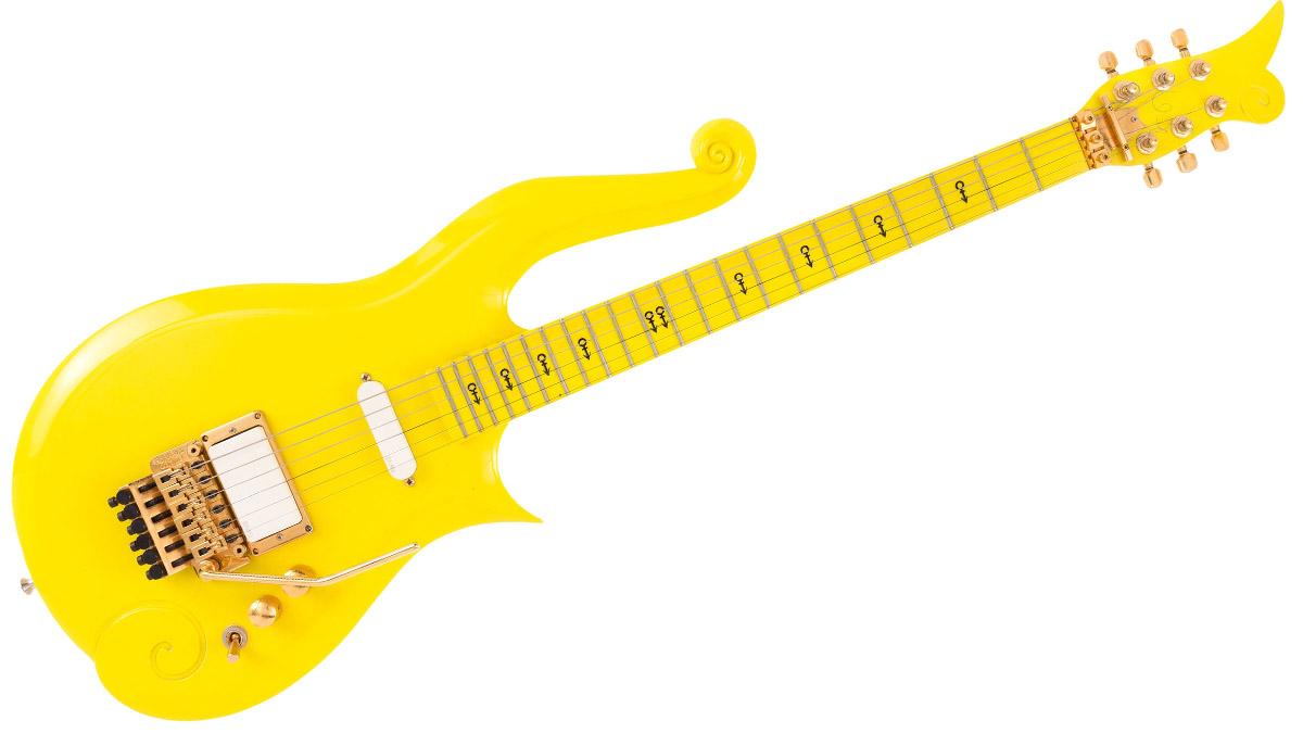 Princes iconic yellow cloud guitar up for auction musicradar buycottarizona