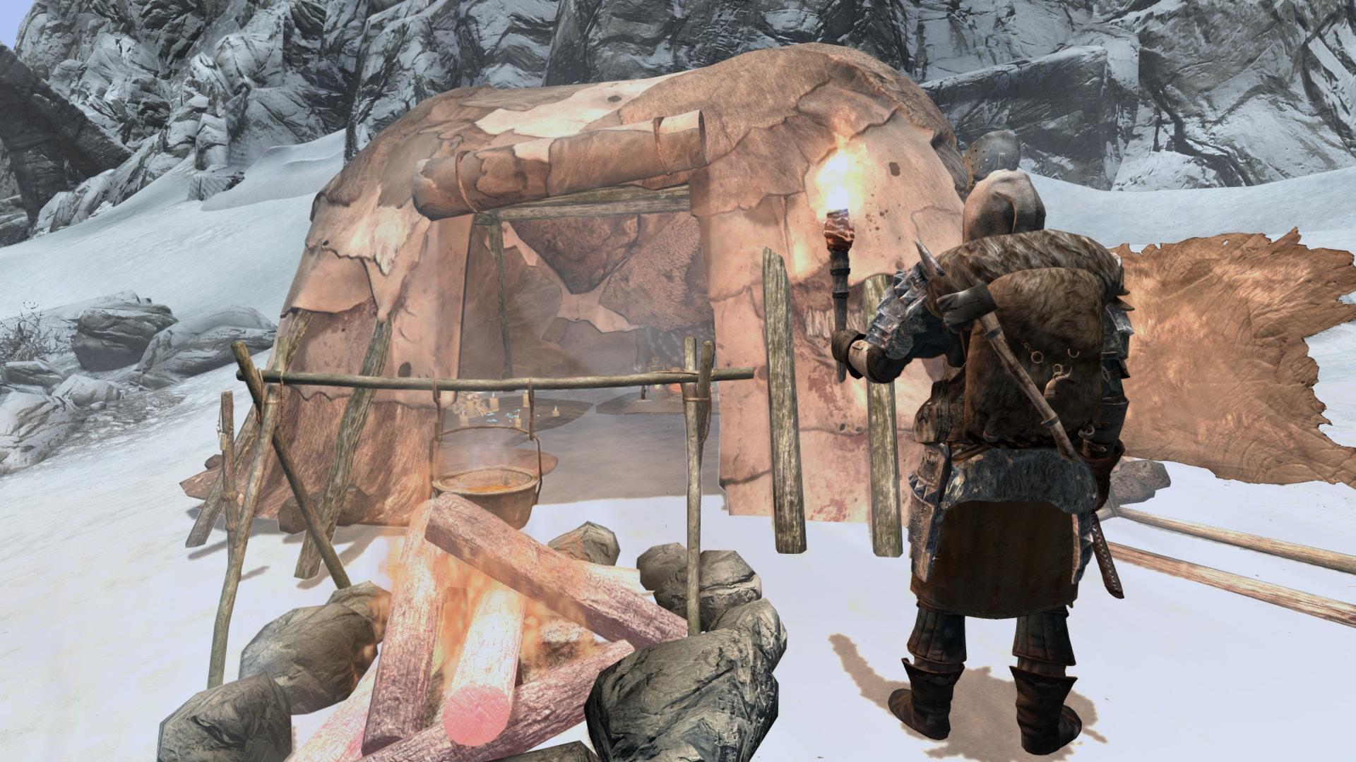 the best skyrim mods: frostfall