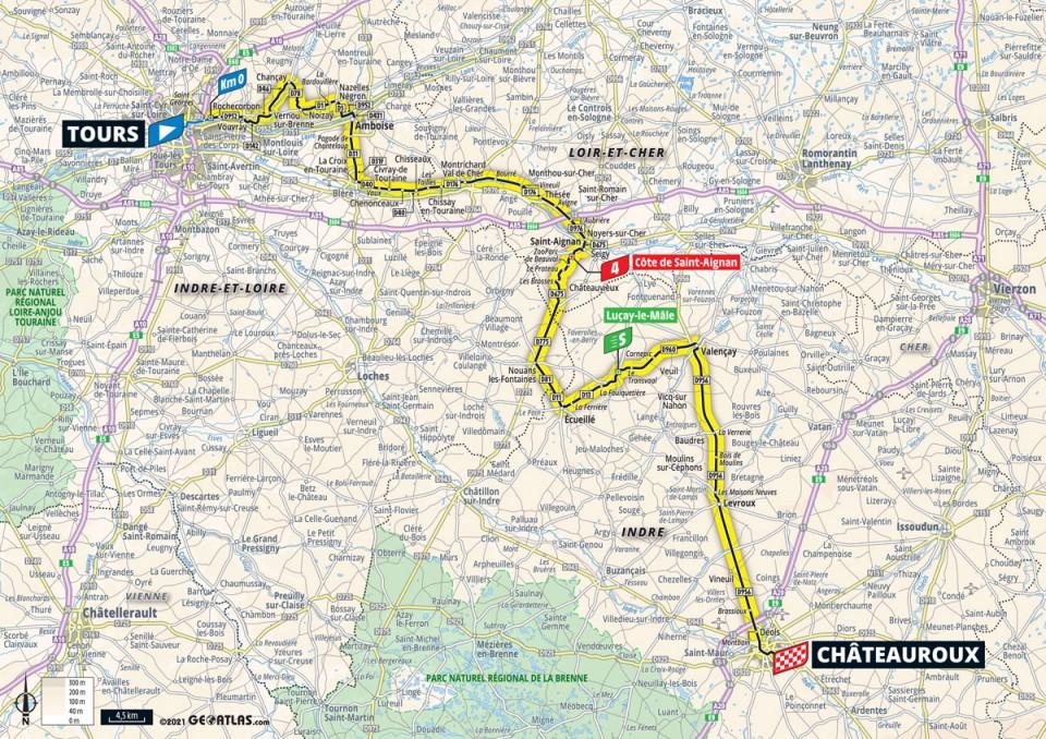 Stage 6 map 2021 Tour de France