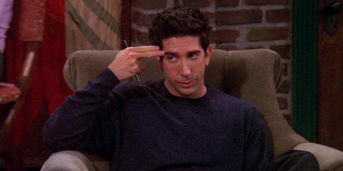 David Schwimmer as Ross Geller on Friends