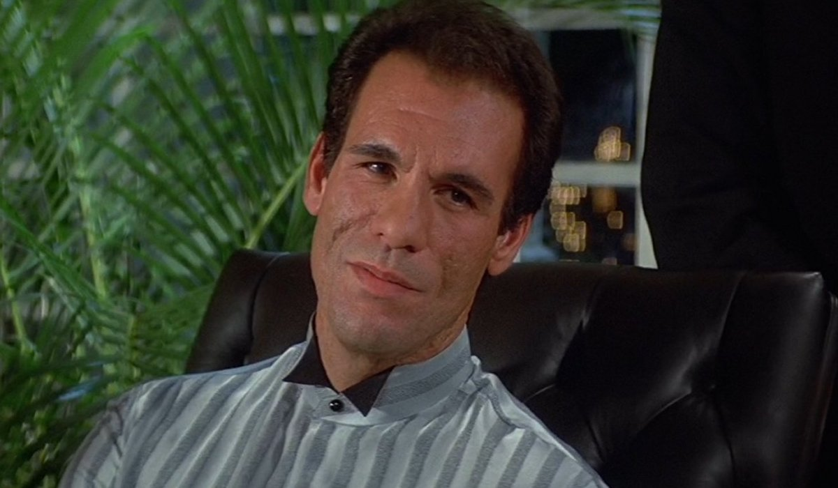 License To Kill Franz Sanchez reclines in his chair