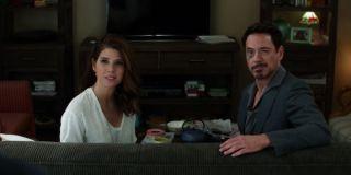 Marisa Tomei and Robert Downey Jr. In Captain America: Civil War