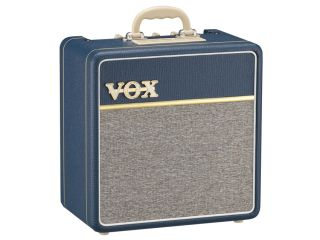 The AC4C1 BL features 1963 Blue vinyl Tygon cloth and an old school Bakelite handle